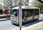 【資料写真】向日市内を走る阪急バス(京都府向日市鶏冠井町)