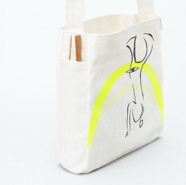 扇子専用のポケットを付けたバッグ (BY mini shoulder) 5500円