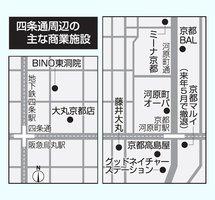 四条通周辺の主な商業施設