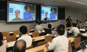ネット中継導入など民事裁判IT化に向けて日弁連が行った模擬裁判(京都市上京区・同志社大)