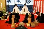 2年ぶりに実施された船鉾の神面改め(公益財団法人祇園祭船鉾保存会提供)