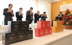 地元食材を使って開発された缶詰(与謝野町岩滝・町産業創出交流センター)