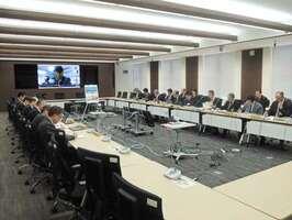 28日間の防疫対応を終え、最後の会議を開いた豚コレラ対策本部(大津市・県危機管理センター)