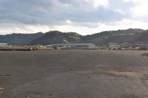 日立造船が建設運営を担う計画だったパーム油発電所の予定地(京都府舞鶴市喜多)