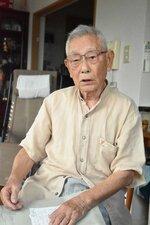 予科練生ら82人が機銃掃射の犠牲になった惨事を語る山田登さん(滋賀県栗東市手原)