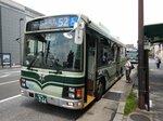 欠番から復活した「52系統」(京都市中京区・二条駅前)