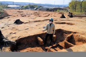 見晴らしの良い丘陵地に古墳が点在する芝山遺跡・古墳群(京都府城陽市富野)