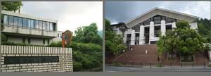 京都市立芸術大学(左)と京都芸術大学(右)