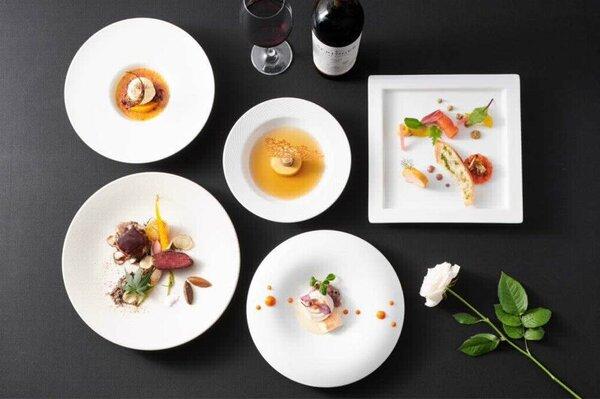 マリオットホテルのディナー「Five Chefs'Specialty」