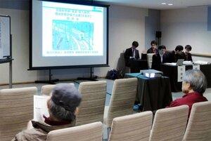北陸新幹線のルートや事業の見通しについて質問が出た説明会(京都市東山区のホテル)