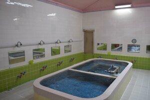 1954年に3代目がタイルに改修した浴槽