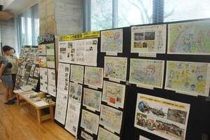 木津川の環境保全の取り組みなどを紹介したポスター(京都府木津川市)