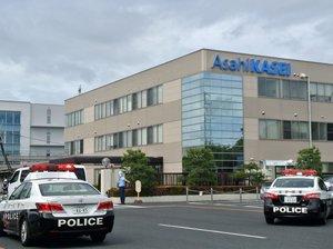 工場内で爆発事故があった旭化成の守山製造所(2020年6月10日、滋賀県守山市)