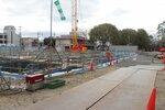 再整備計画が進む大宮交通公園。園内では北消防署の建設工事が既に始まっている(京都市北区大宮)