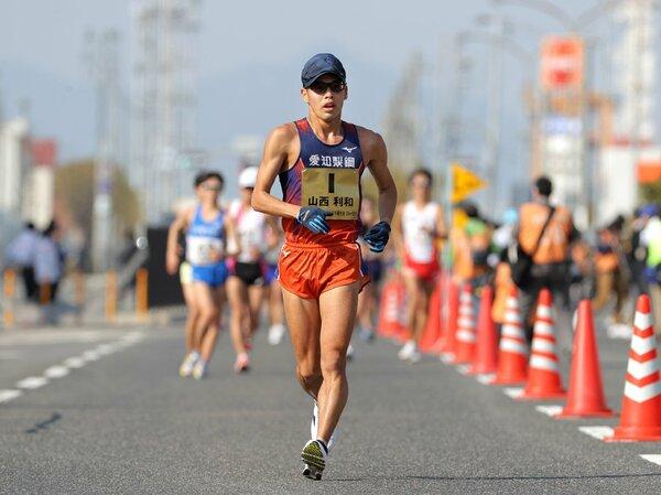 金メダルへ決意を強める競歩・山西利和(2021年2月撮影)