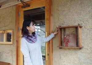 改修した蔵でシェアスペースを運営する石田さん(京都府与謝野町岩屋)