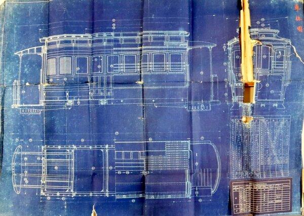 京都電気鉄道が製造した車体の図面