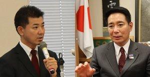 泉健太氏(左)と前原誠司氏