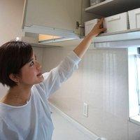 流し台の上の棚は、使う頻度の高いものほど下段に収納するのがこつ