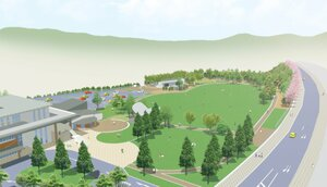新市街地都市公園のイメージ図(宇治田原町提供)