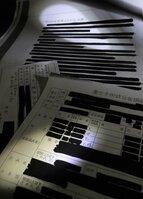 滋賀県が2月12日に裁決の上、開示した強制不妊手術関連文書。黒塗りが多く第三者は検証できない