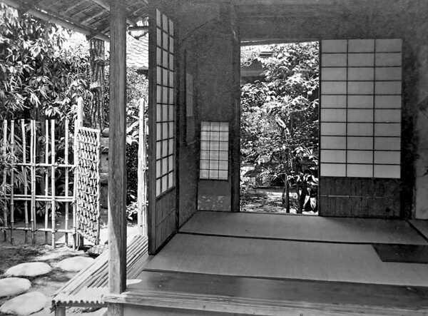昭和初期に撮影されたとみられる有待庵(大久保利泰さん提供)