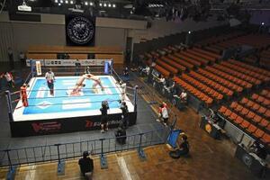東京都内で行われた新日本プロレスの無観客大会=3日夜
