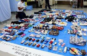 押収されたエコバッグなど約300点(京都府宇治市宇治・宇治署)