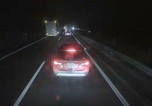 あおり運転をする医師の車(滋賀県警提供、画像の一部を加工しています)