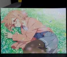 京都アニメーションの映画「劇場版 境界の彼方」(石立太一監督)のパンフレット。同映画には石田敦志さんの名前がクレジットされている