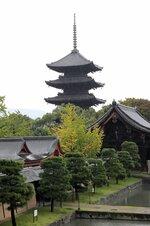 【資料写真】東寺の五重塔(京都市南区)