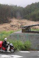 下流で死者を出した土石流の発生現場。危険な岩などは除去されたが、砂防ダム整備は頓挫した(京都府亀岡市畑野町)