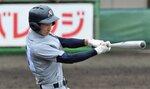京都外大西-東山 1回表京都外大西1死二、三塁、平田が左前適時打を放ち6-0と突き放す