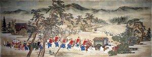 綴織壁掛原画「葵祭」今尾景年筆/1891(明治 24)年頃