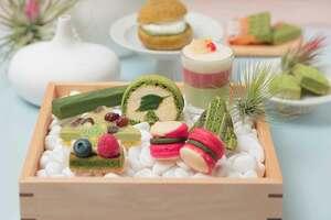 抹茶などを用いて京都の風物を表現したスイーツ