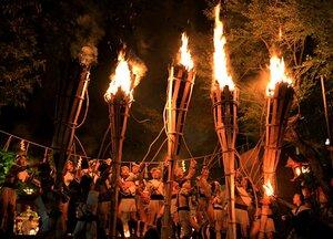 【資料写真】昨年の鞍馬の火祭(2019年10月22日、京都市左京区)