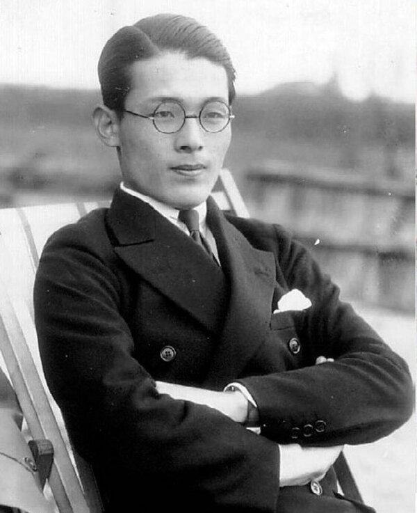 ベルリン五輪に参加し、同志社大ヨット部の創設にも関わった吉本善多(琵琶湖ヨット倶楽部90周年誌より)