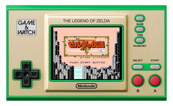 任天堂が発売する「ゲーム&ウオッチ ゼルダの伝説」(同社提供)