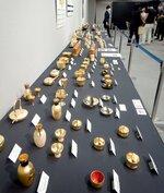 金製品など約500点が並ぶ催事「金の大祭典」(京都市下京区・大丸京都店)