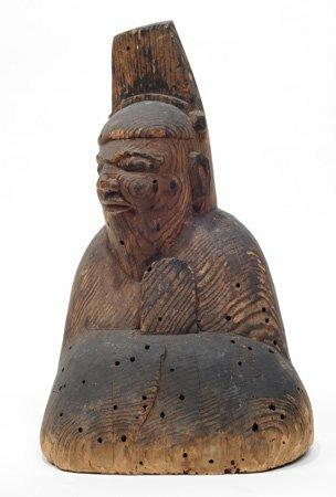 男神坐像(重要文化財 地主神社蔵 平安時代)