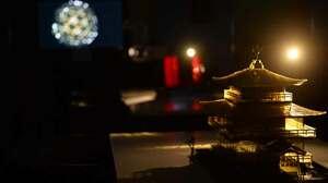 金閣寺の万華鏡作品なども展示する