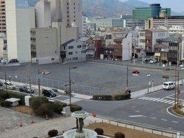 NHK大津放送会館が移転を予定している滋賀会館跡地(大津市京町3丁目)