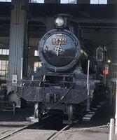「無限列車」と似ているとファンに評判の大正時代製のSL「ハチロク」(京都市下京区・京都鉄道博物館)