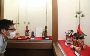 みやびな美しさで来場者を楽しませる祇園祭のミニチュア山鉾(長岡京市神足2丁目・神足ふれあい町家)