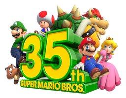 スーパーマリオブラザーズの35周年記念ロゴ(任天堂提供)
