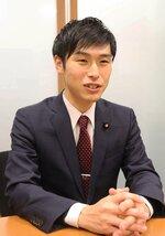 学問研究の政治からの独立性を訴える山添氏(参院議員会館)
