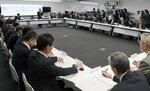 京都市が開いた新型コロナウイルス感染症の緊急対策本部会議(京都市中京区・市役所)