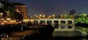 ライトアップした三条大橋のイメージ(京都市提供)