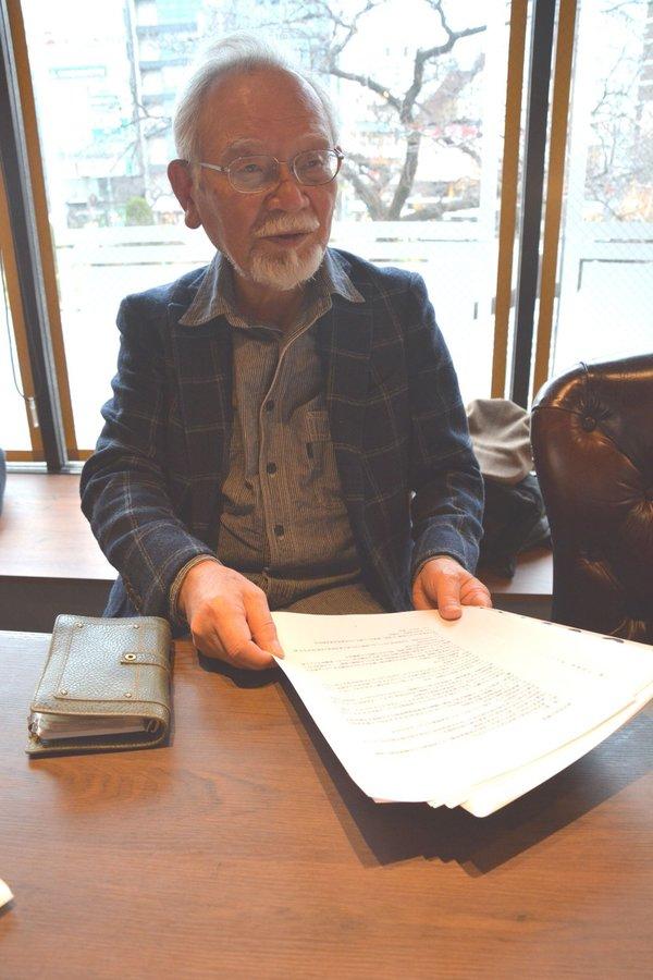 「再審段階での証拠開示を法制化すべき」と話す村井さん(東京都国立市)
