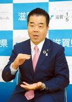 滋賀県の三日月知事(2020年4月)